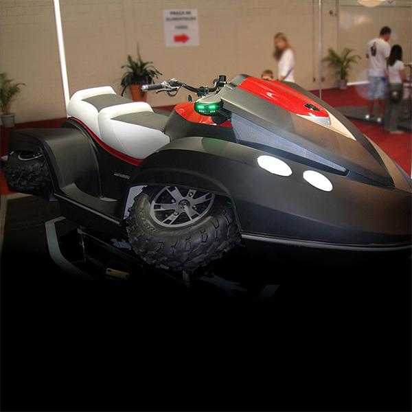 Kjet é um protótipo de Jet ski anfíbio desenvolvido por uma empresa 100% Brasileira.
